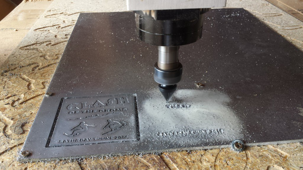 Groms in Aluminium YAS Engineering CNC Router