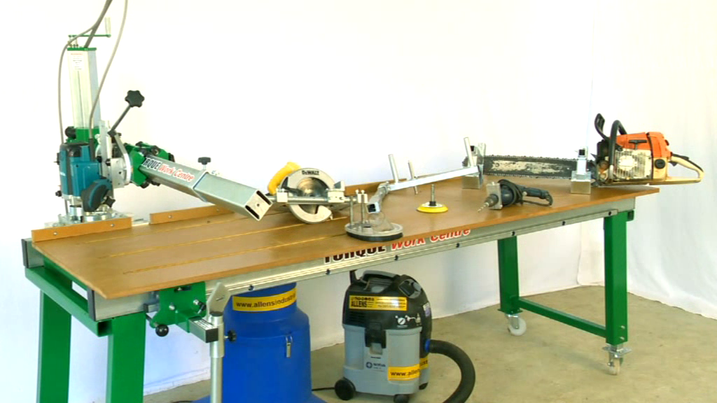 The Torque Work Centre bench and power tools