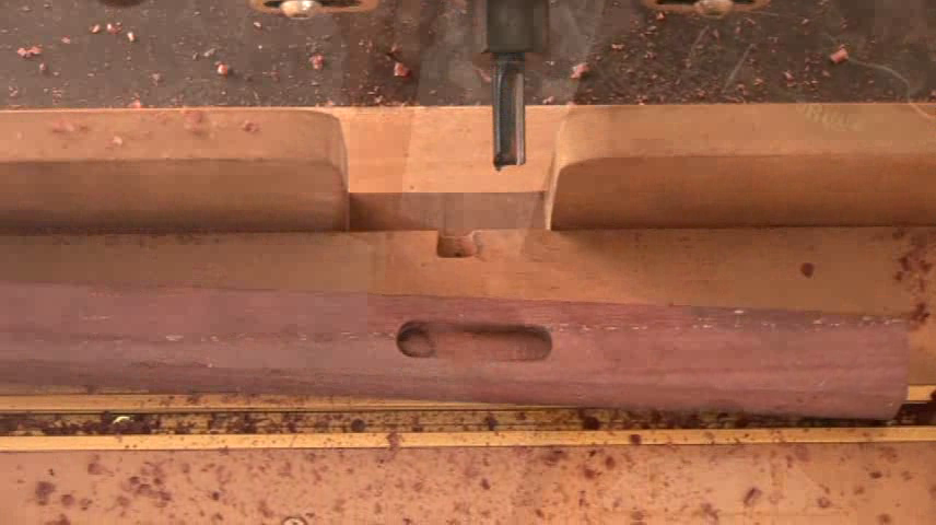 A mortise cut with a router